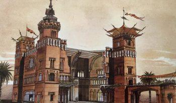 castell-tres-dragons-dibujo